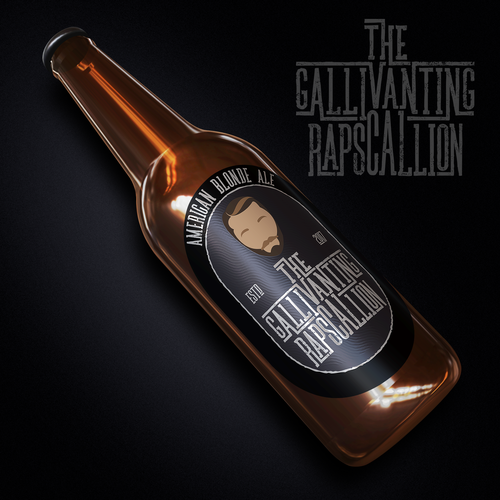 """The Gallivanting Rapscallion"" beer bottle label... Ontwerp door BDV"