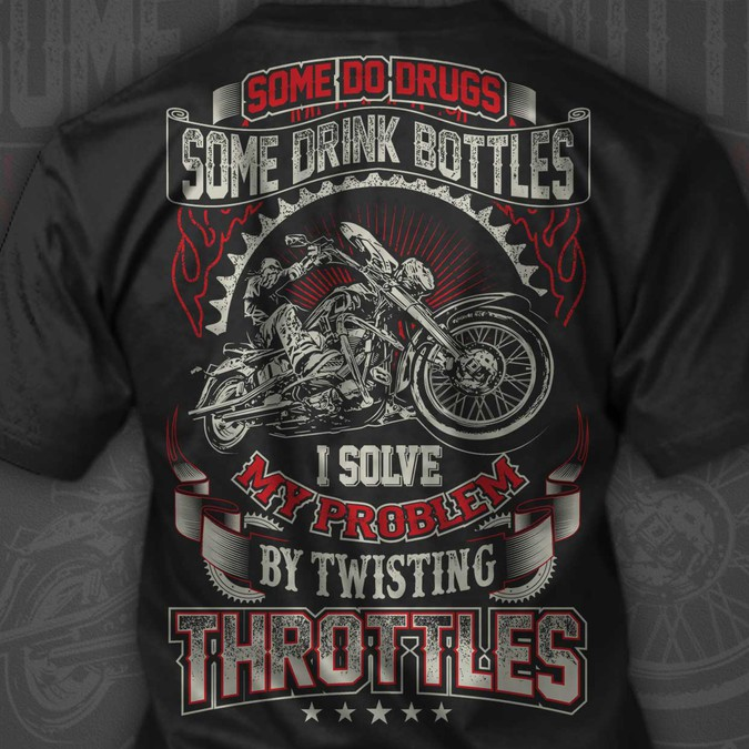 cb08581e Design A Creative Typography Motorcycle T-shirt For Bikers   T-shirt ...
