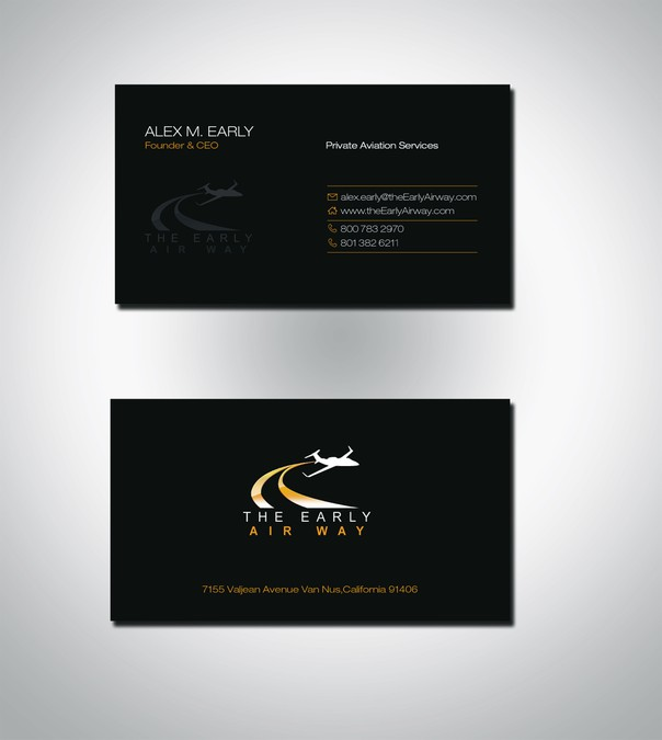 Business card for private jet charter company business card contest business card for private jet charter company colourmoves