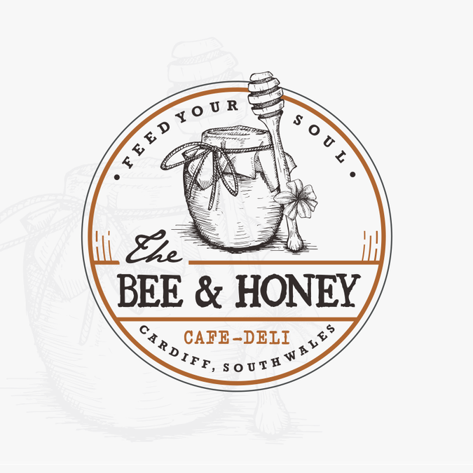 Design a rustic quirky logo for a cafe/deli called The Bee ...