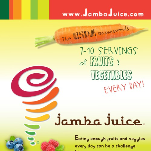 Create an ad for Jamba Juice Design by Lulu's Imagination