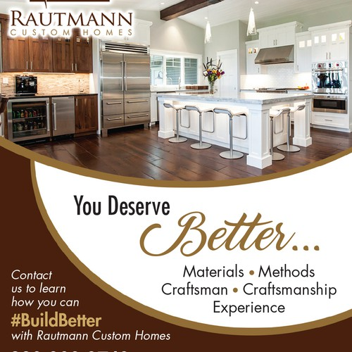 1 4 page ad for a custom home builder other business or for Best custom home builder websites
