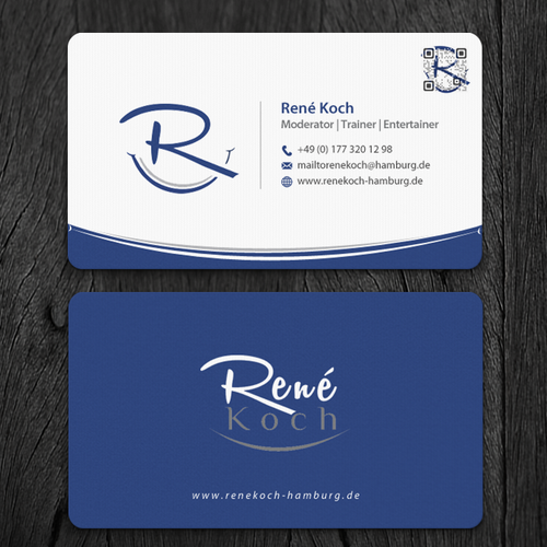 Business card entertainment and coaching business card contest runner up design by mr minimalist colourmoves