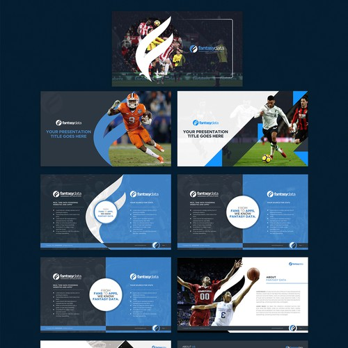 Design a corporate presentation for a Sports Data Company