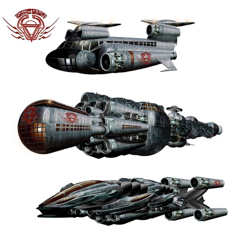 Spacecraft Illustration for Novel Design by buzzart