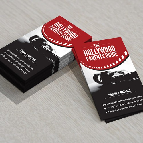 Hollywood parents guide business card business card contest runner up design by crystal norton colourmoves
