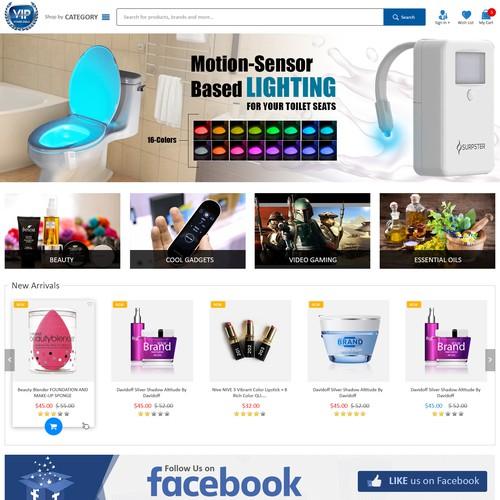 Runner-up design by WebAppDesigns