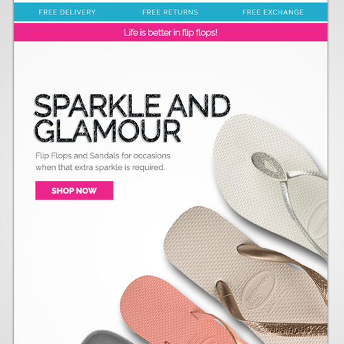 aecdfa9872eb92 £59. Silver package purchased for £59. (including 99designs fees). 700x925  - create an engaging header image for a flip flop(sandal thong) email  campaign