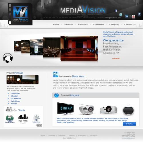 Web Design For High End Av Company Web Page Design Contest 99designs