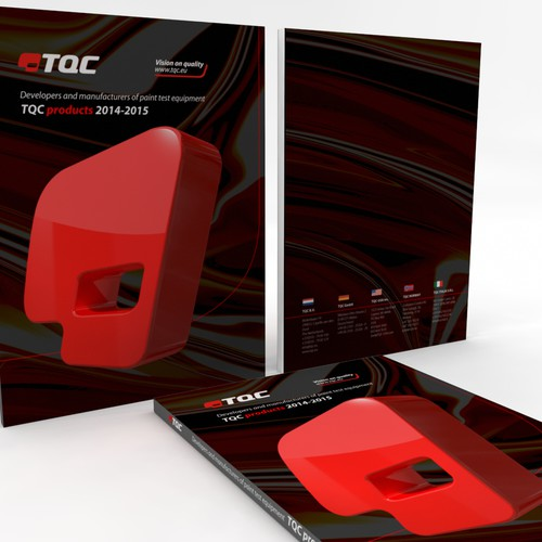 colorful catchy smashing design the cover of the tqc catalogue about paint test products. Black Bedroom Furniture Sets. Home Design Ideas