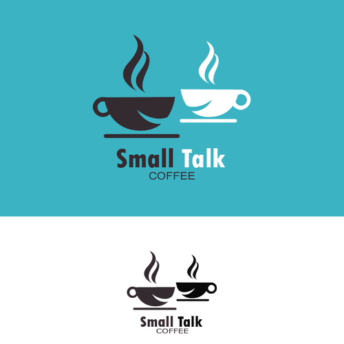 Create a smart, fun, playful logo for Small Talk Coffee