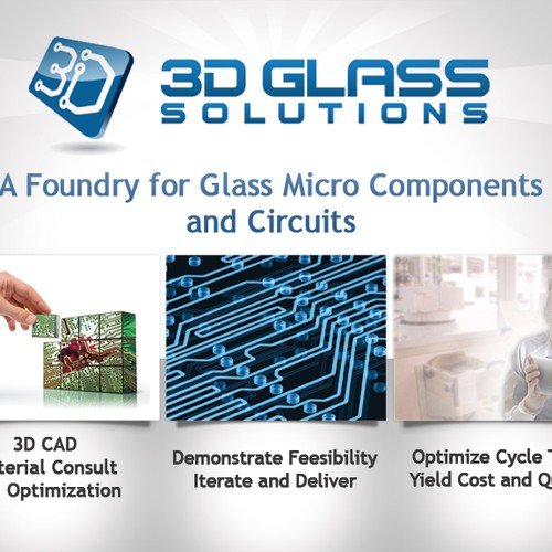 3D Glass Solutions Booth Graphic Design by DESIGNSMITH™
