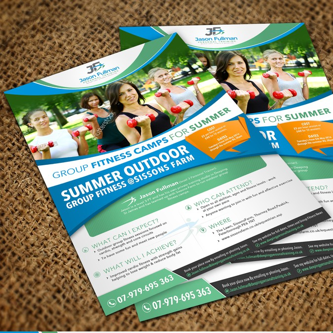 Appealing and Creative Group Fitness (Bootcamp) Flyer for