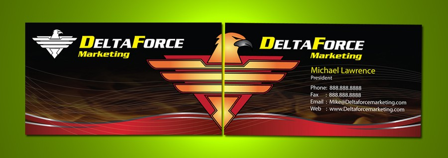 Delta Force Marketing - Logo and business card design