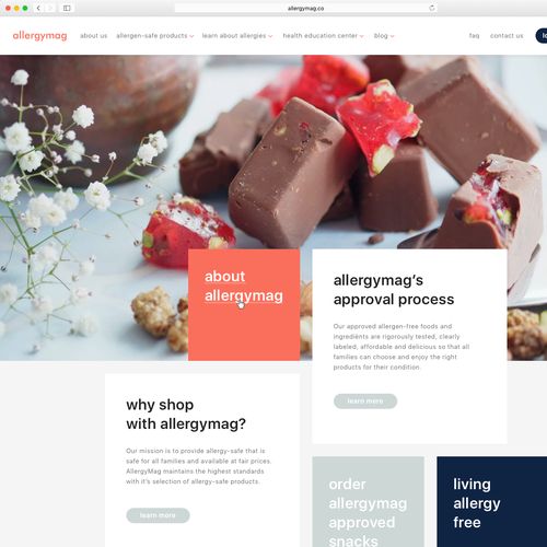 Design homepage for allergen free food content ecommerce site diseo finalista de lissaslx forumfinder Image collections