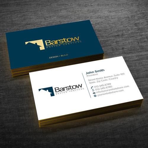 Custom bespoke home builder needs business cards business card runner up design by designc colourmoves Gallery