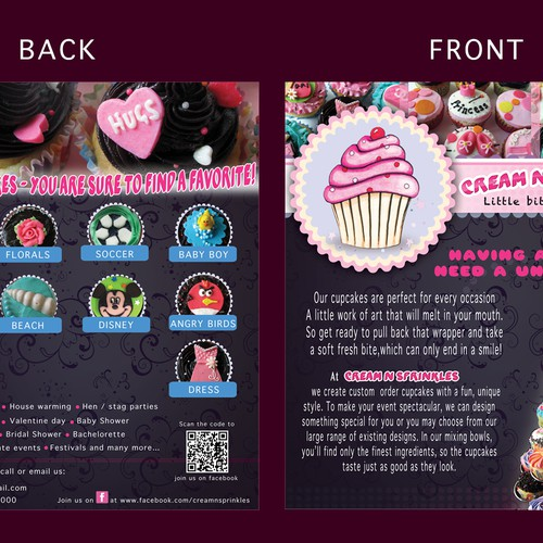 Cupcake Flyer for Cream n Sprinkles Design by gestalti
