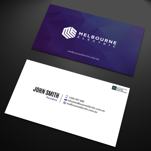 Create an eye popping business card for a passionate electrical runner up design by an designer colourmoves