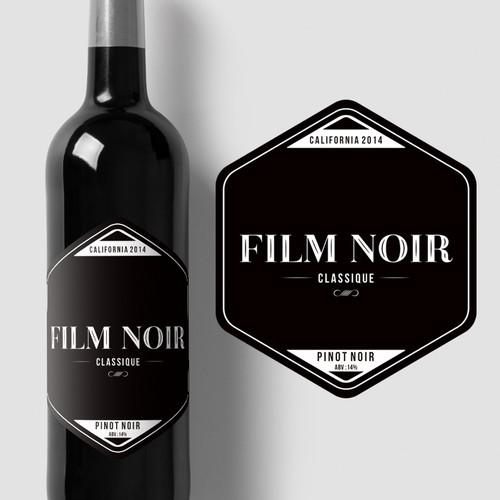 Movie Themed Wine Label - Film Noir Classique Ontwerp door Kristya Nugraha