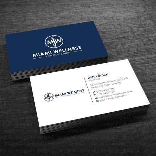 Miami Wellness Business Card Business Card Contest