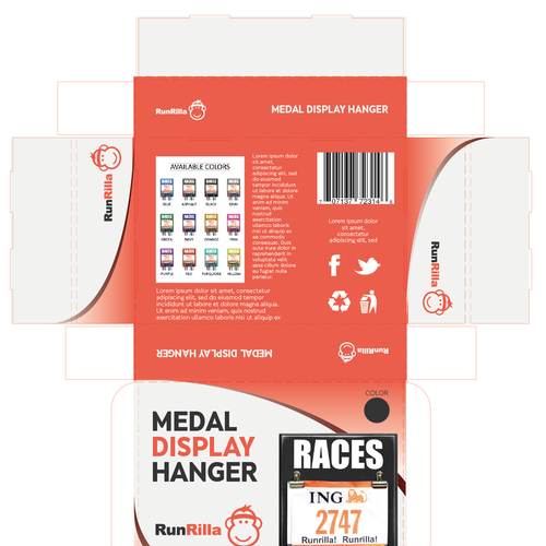 Create an attractive Retail Packaging for Medal Hangers