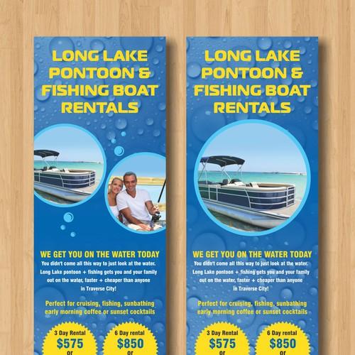 boat rental flyer quick and easy 200 bucks はがき チラシ