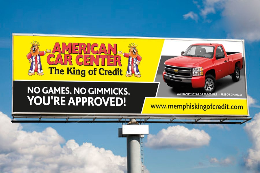 Business Or Advertising For American Car Center Signage Contest