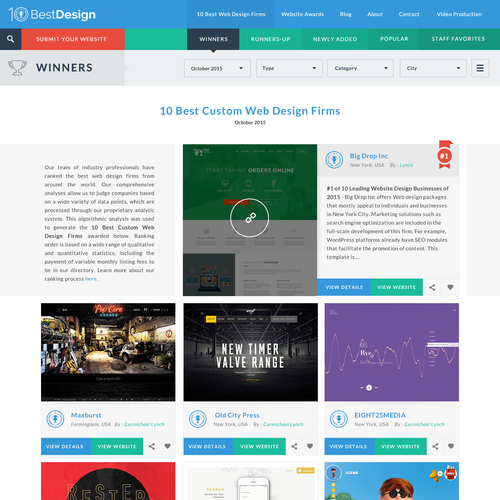 10 Best Design S Website Awards Page Layout Web Page Design Contest 99designs