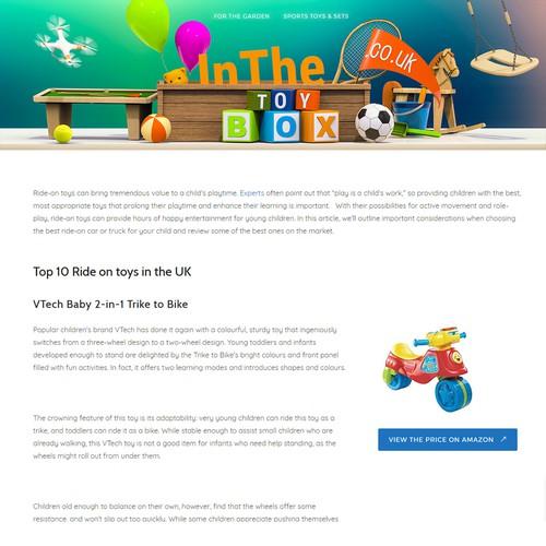 Looking for a stunning, illustrated header design for toy website. Ontwerp door tarkomp