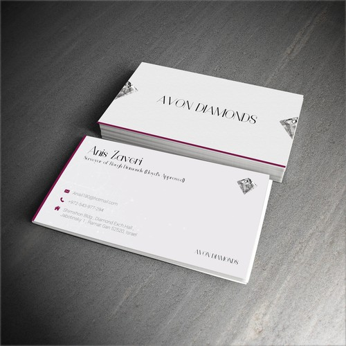 High class business card for diamond consultant business card contest runner up design by hariton colourmoves Gallery