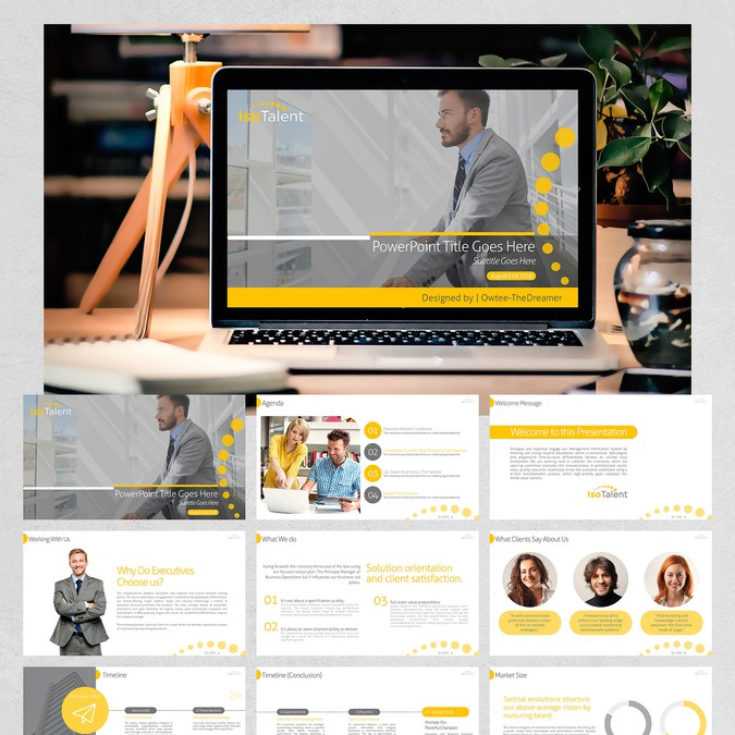 isotalent powerpoint presentation pitch deck パワーポイントコンペ