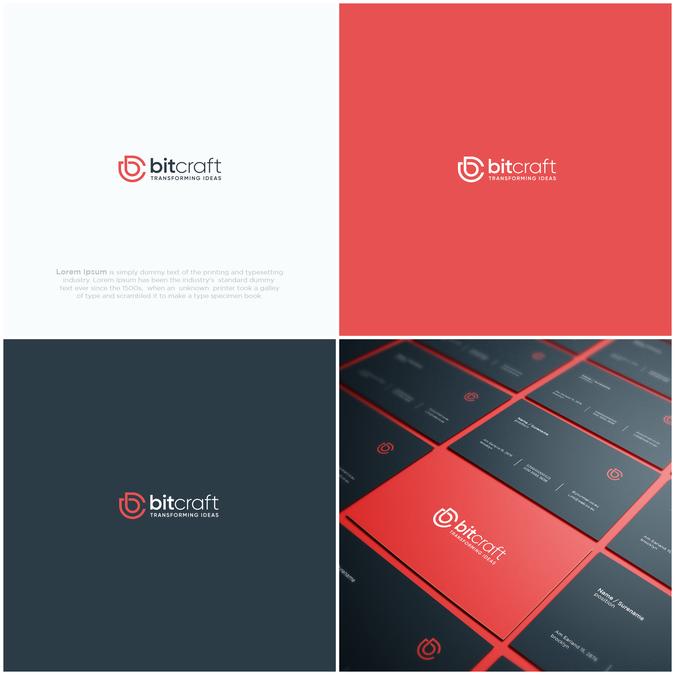 Logo Business Cards For Modern Software Web App