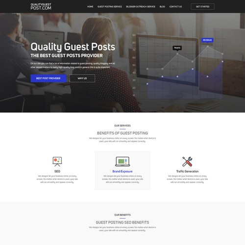 I Need a WP Theme Design for a Guest Posting Service | WordPress