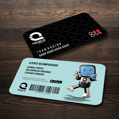 Carto fsico iqcard business card contest runner up design by vincent tesoro reheart