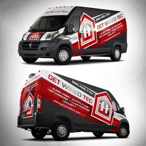 looking for an clean eye catching van wrap for home theater company car truck or van wrap contest. Black Bedroom Furniture Sets. Home Design Ideas