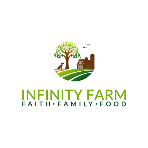 """Lifestyle blog """"Infinity Farm"""" needs a clean, unique logo to complement its rural brand. Design by restuibubapak"""