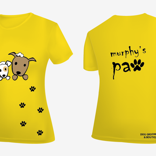 Murphy S Paw T Shirt For Dog Grooming Shop T Shirt Contest