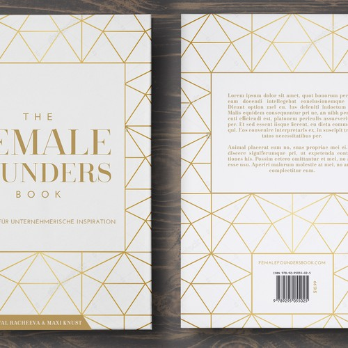 Minimal, beautiful & modern book cover design needed for the Female Founders Book Design von betiobca