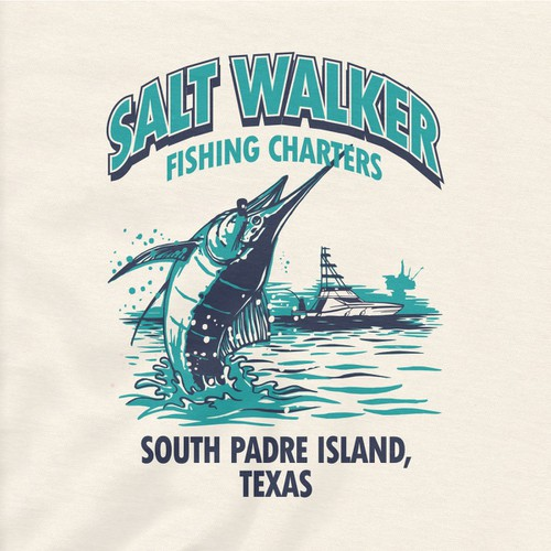 Texas fishing charter boat needs a great t shirt design for Deep sea fishing south padre island