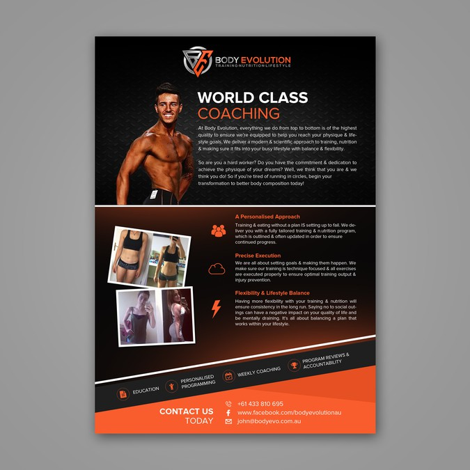 personal training business needs eye catching flyers postcard