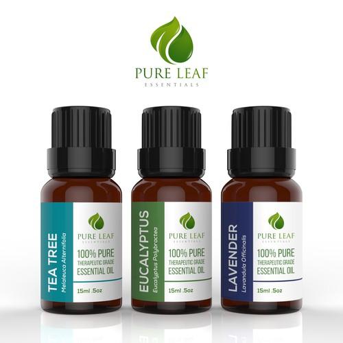 Home Designer Essentials: Design Essential Oil Bottle Labels For Pure Leaf