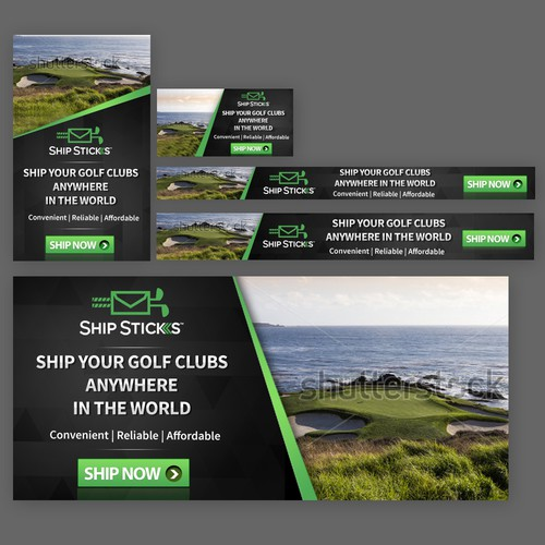 Create Banner Ad For Golf Bag Shipping Company Banner Ad Contest 99designs