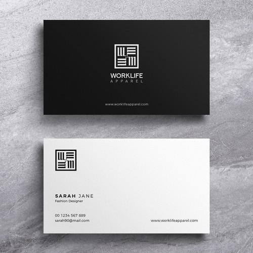 Design A Modern Classic Fashion Business Card Business Card Contest