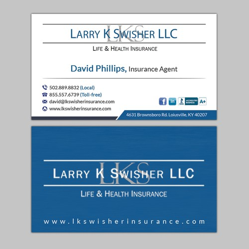 Simple But Elegant Design For An Insurance Agency Business Card Contest 99designs