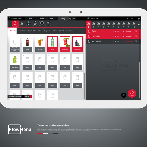 Redesigning A New User Interface For A Restaurant Point Of