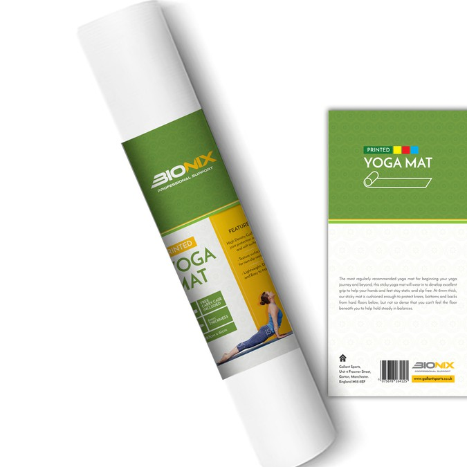 Yoga Mat Product Label Design Etiketten Wettbewerb