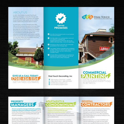 Crate a Capturing/Modern Brochure for our Trade shows