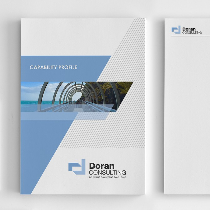 Company profile report cover for engineering consultancy for Design consultancy company profile
