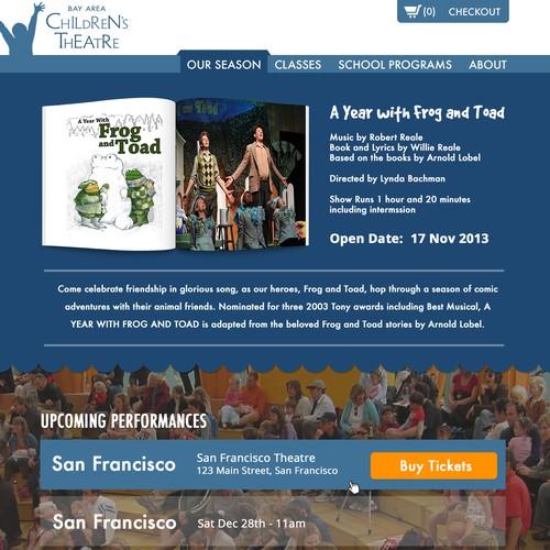 99nonprofits Create A Fantastic Web Site Theme For Bay Area Children S Theatre Web Page Design Contest 99designs