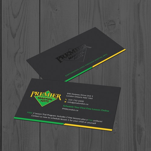 Premier martial arts business card design business card contest runner up design by tanlearn reheart Image collections